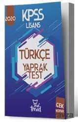 Yeni Trend Yayınları - 2020 KPSS Türkçe Yaprak Test