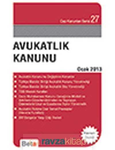 Beta Basım Yayım - Avukatlık Kanunu / Cep 027