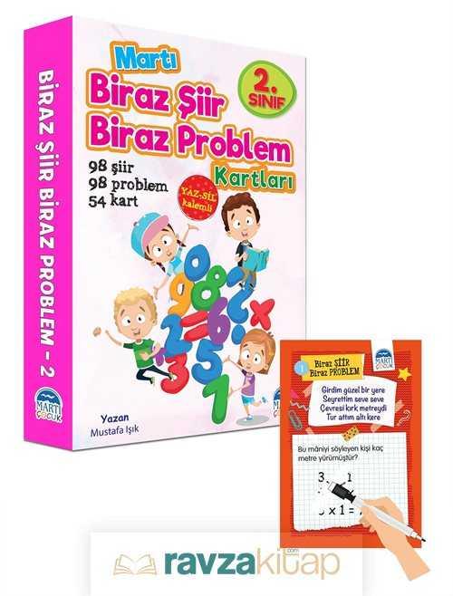 Martı Çocuk Yayınları - Biraz Şiir Biraz Problem Kartları 2. Sınıf / Yaz-Sil Özellikli