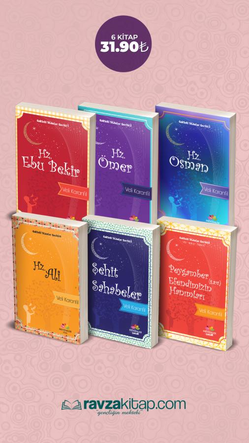 Ravzakitap Kampanya - Çocuklar İçin Dört Halife, Şehit Sahabiler, Peygamber Efendimiz Hanımları ( 6 Kitap )