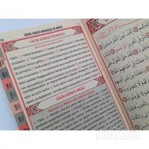 Fihristli 41 Yasin Arapça Türkçe Okunuşlu ve Mealli, Sesli, Orta Boy (Yasin 034)