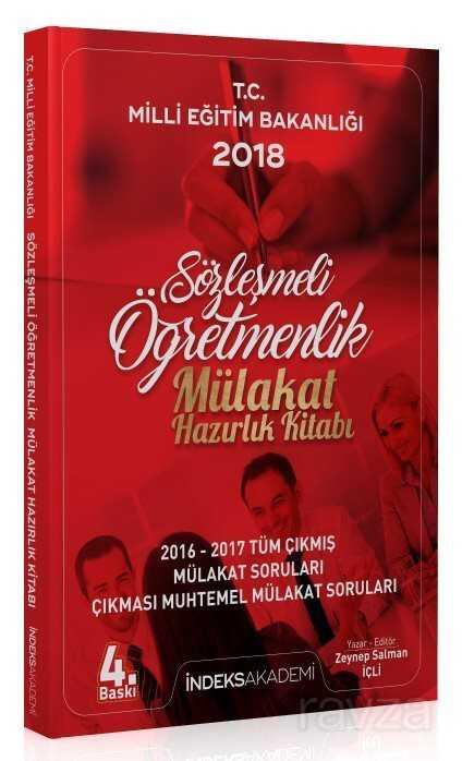 İndeks Akademi Yayınları 2018 Sözleşmeli Öğretmenlik Mülakat Hazırlık Kitabı