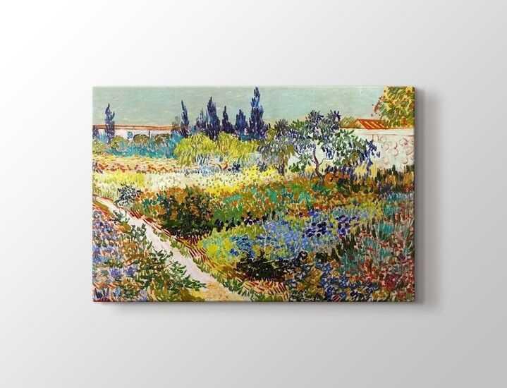 Vincent van Gogh - Garden at Arles Tablo |50 X 70 cm|