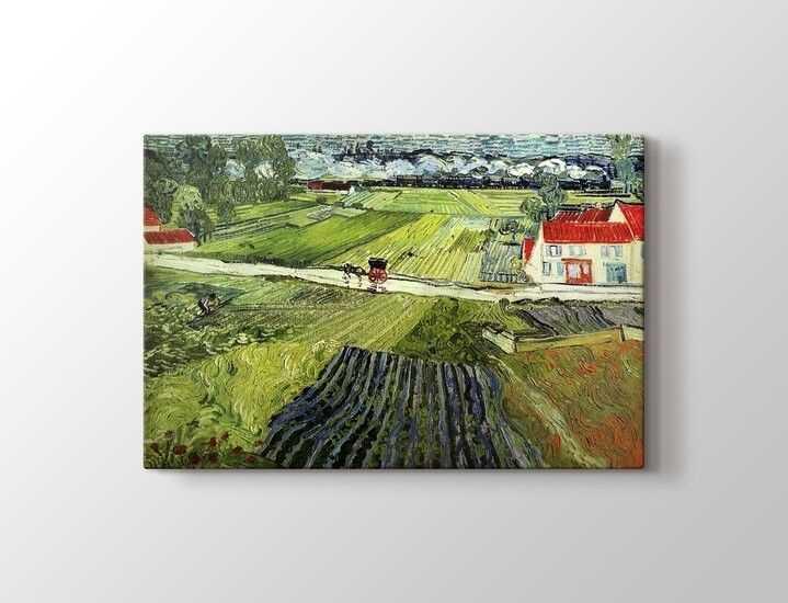 Vincent van Gogh - Landscape with Carriage and Train Tablo |50 X 70 cm|